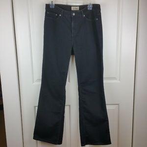 "L.L. Bean Black ""Favorite Fit"" Straight Jeans 10"